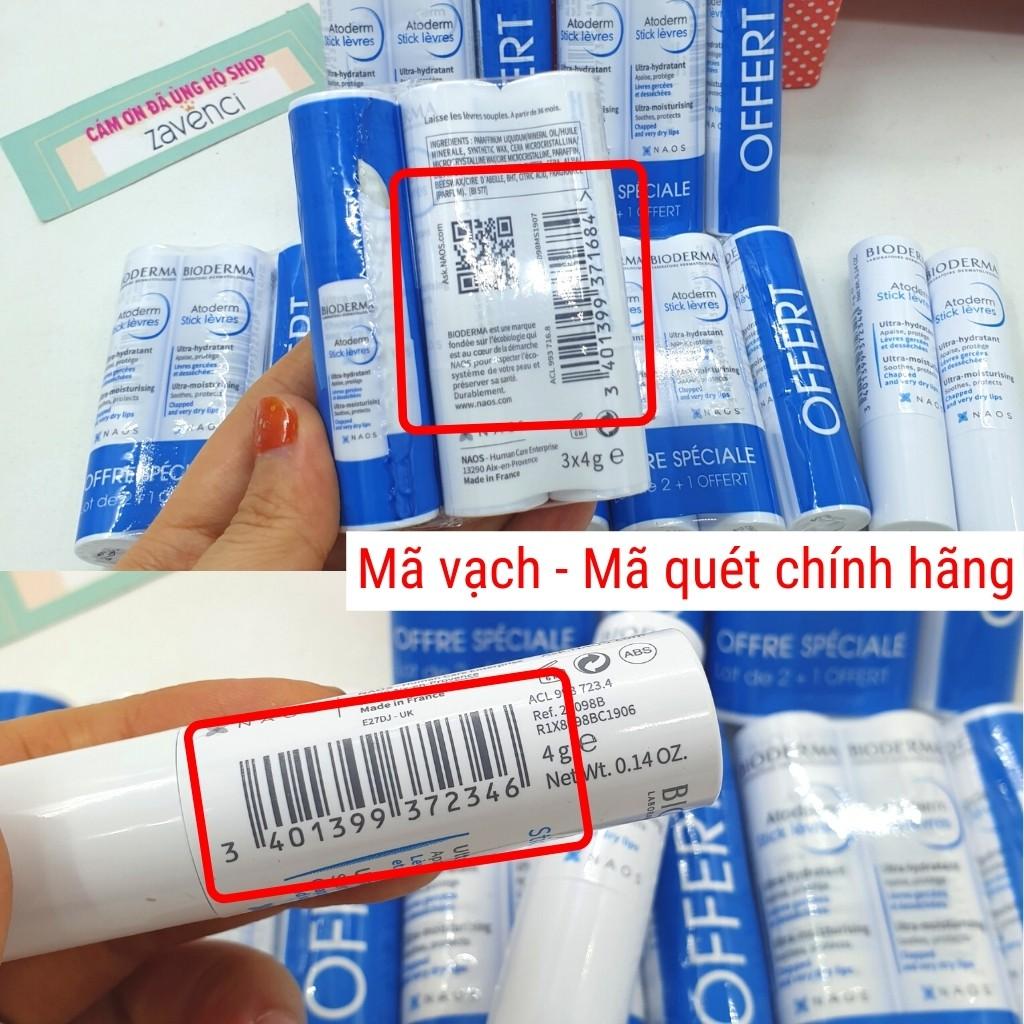 Son Dưỡng Không Màu BIODERMA Atoderm Levres Stick Hydratant NAO+ Làm Hồng Mềm Môi ( 4g )