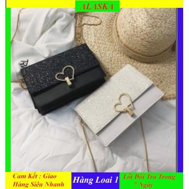 Túi Xách Nữ Đeo Chéo ❤️ FREESHIP❤️ Style Vintage khóa Trái Tim Dễ Thương Hàng Loại 1 Xuất Khẩu Bắt Trend Có ảnh Thật
