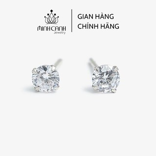 Bông Tai Nụ Đá 4 Chấu Chốt Bạc Ta - Thương Hiệu Minh Canh Jewelry thumbnail