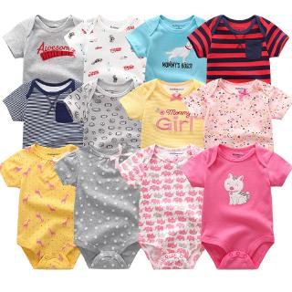 6 pcs baby clothes romper Jumper onesies pajama set summer short sleeved girl boy kids jumpsuit new born cotton clothes suit 0-12M