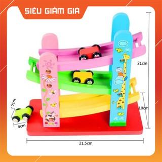 [CỰC HOT]- -HOT- Xe cầu trượt 4 tầng bằng gỗ – đồ chơi giáo dục