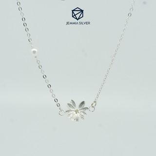 Set dây chuyền + vòng tay bạc Jemmia hoa cúc - JM4278