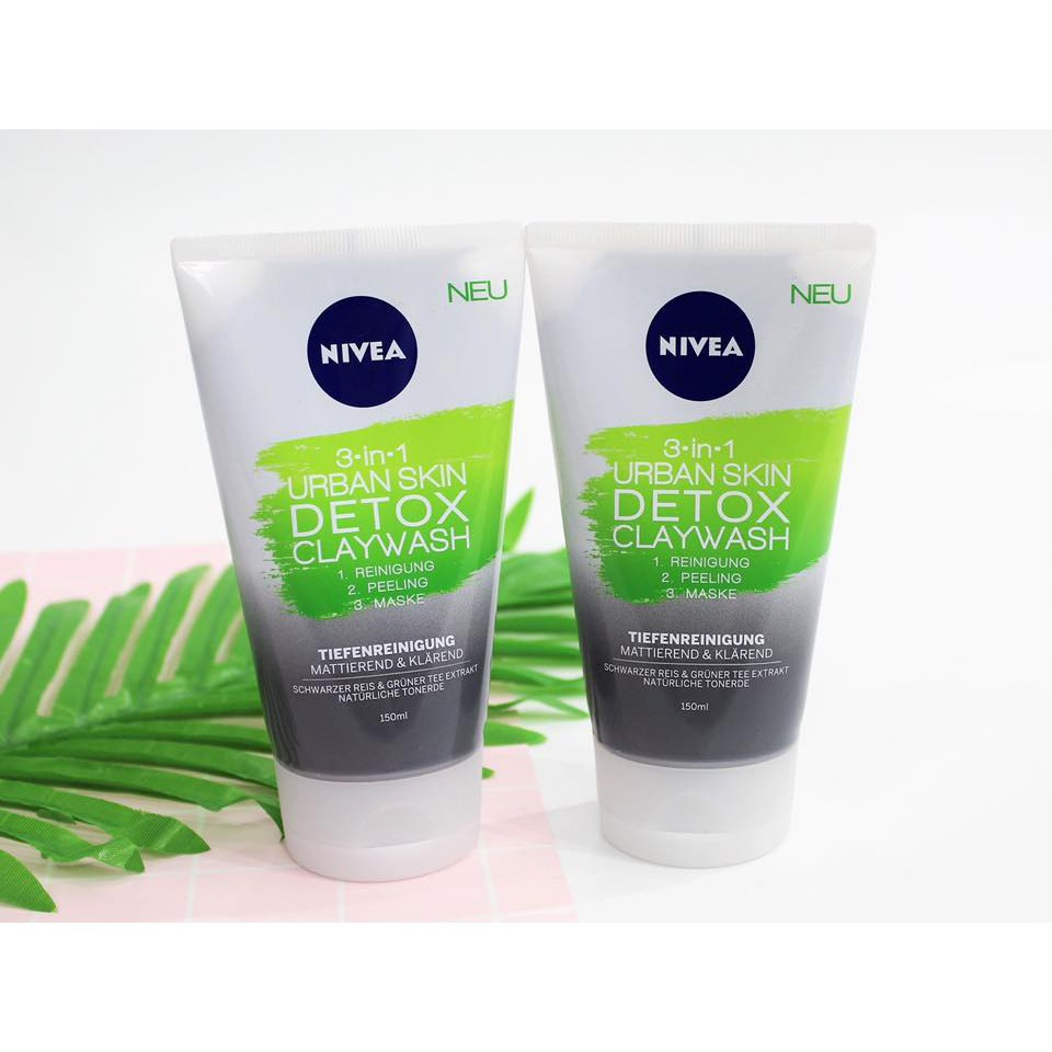 Sữa rửa mặt NIVEA 3 in1 Urban Skin Cleansing Detox