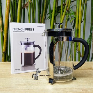 Bình pha cafe Pháp Lock&Lock French Press ,bình pha trà dung tích 800ml LLG019 Phin pha cà phê