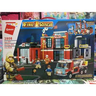 Xếp hình lắp ghép lego Qman Fire Rescue 2802