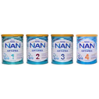 Sữa NAN số 1, 2, 3, 4 nội địa Nga 800gr