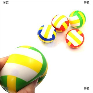 [MQ2]1PC Stress Relief Vent Ball Mini Volleyball Squeeze Foam Ball Kids Outdoor Toy