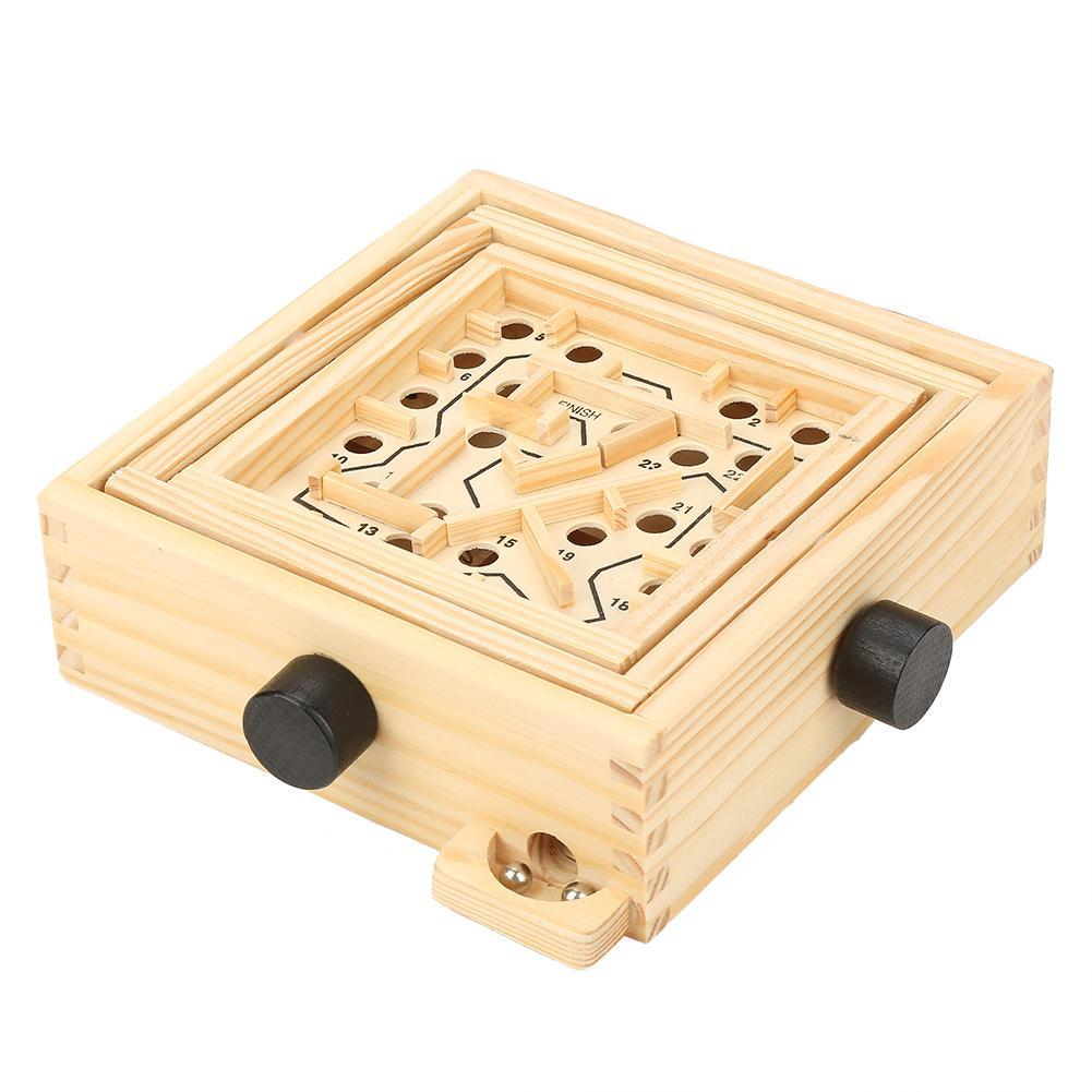 Children Kid labyrinth Wooden Maze balance Game Toys Intellectual early Learning