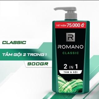 Dầu Tắm Gội 2 Trong 1 Dành Cho Nam Romano Classic 900g