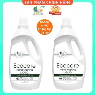 Nước rửa tay ECOCARE 1L, nhài hữu cơ, nước rửa tay diệt khuẩn siêu nhanh dạng bọt thumbnail