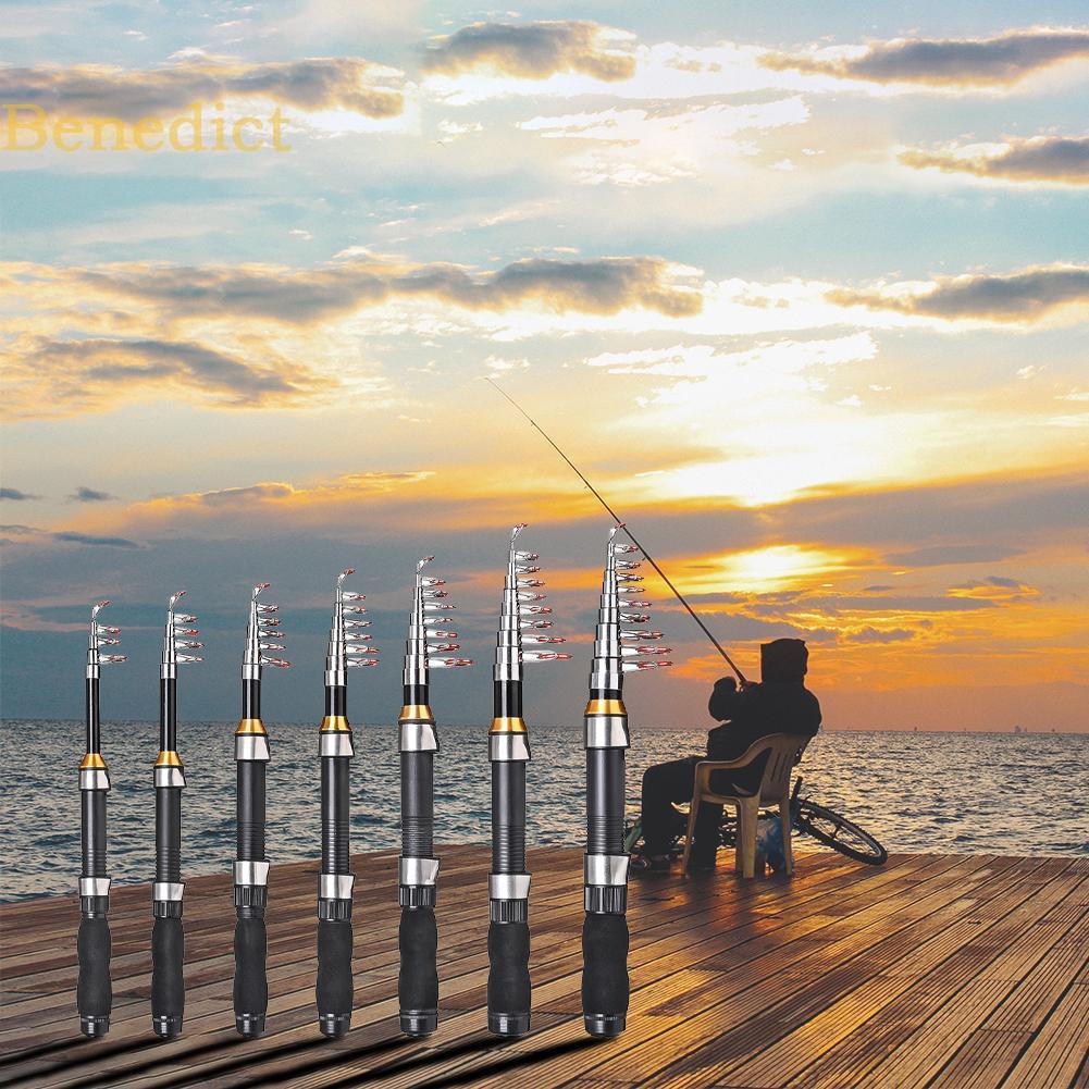 Cần câu cá bằng sợi thủy tinh có thể xếp gọn tiện lợi