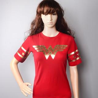 Áo Thun Nữ Tay Ngắn Cổ Tròn In Hình Wonder Woman