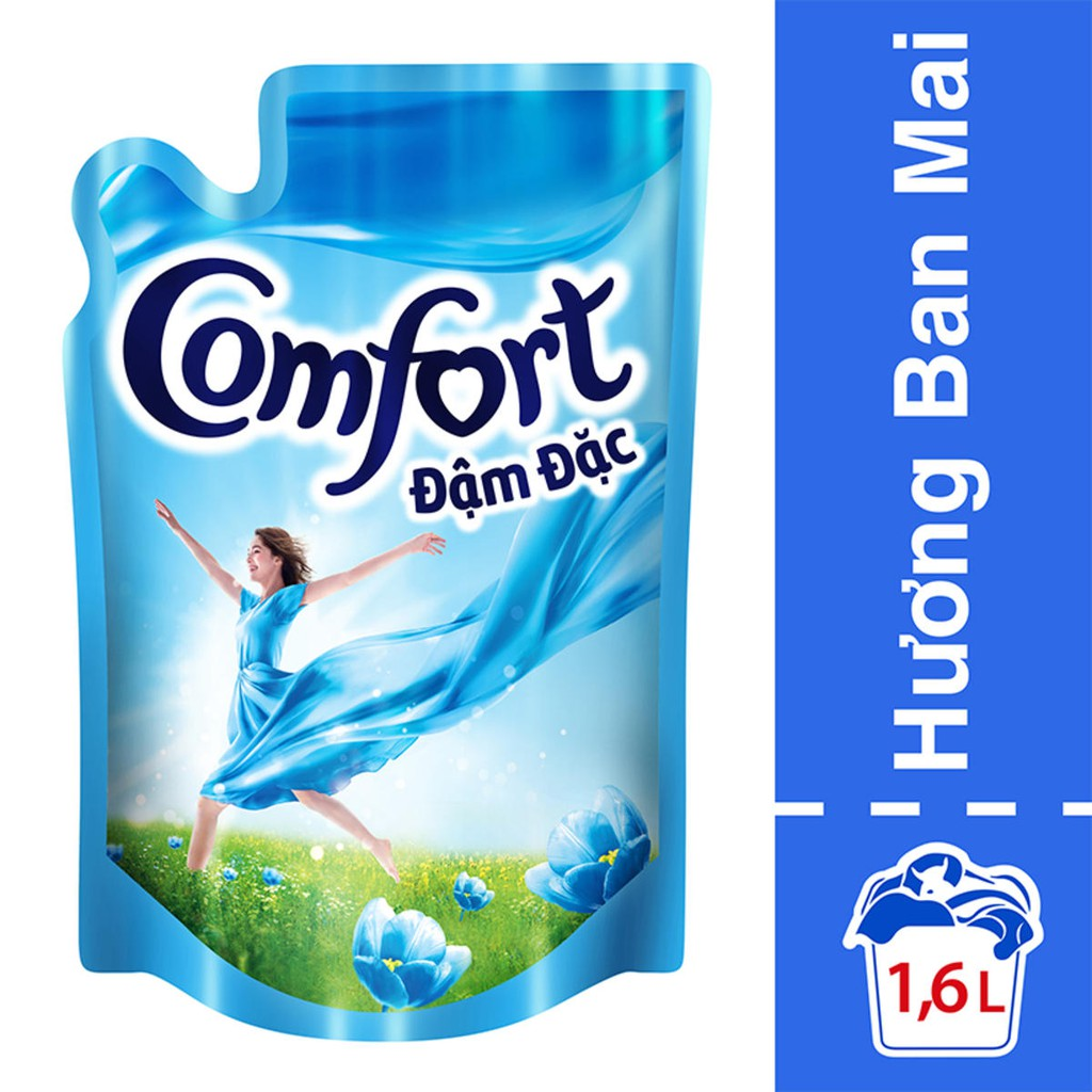 Nước xả vải Comfort 1 Lần Xả Hương Ban Mai túi 1.6L MSP67145293