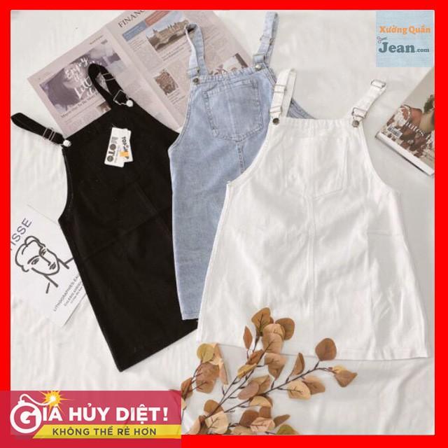 Yếm Váy Jean Rộng 2 Dây Cao Cấp 3 Màu Cá tính 3 size Ms: 093