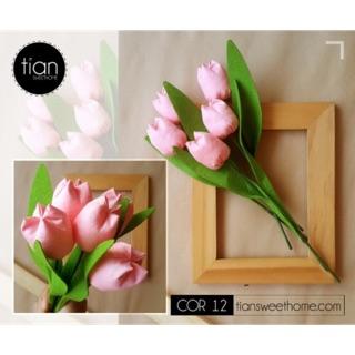 Hoa tulip bằng vải