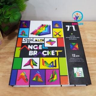 Đồ Chơi Lắp Ghép – Lắp Ghép Góc Vuông Tư Duy Logic – Giáo Cụ Montessori