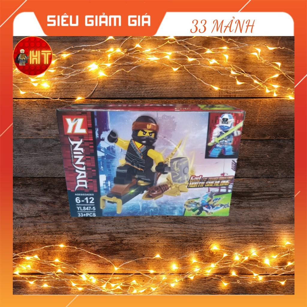 Bộ Đồ Chơi Thông Minh Lego Lắp Ráp Nhân Vật Ninja Go 33 Mảnh