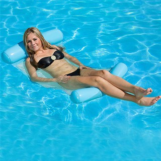 BT Foldae Water Hammock Swimming Pool Inflatae Lounger Summer Beach Chair