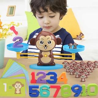 Đồ chơi khỉ cân bằng thông minh, cùng bé học toán, phát triển trí tuệ, cho bé học số đếm, hàng loại 1 đẹp, nhựa an toàn