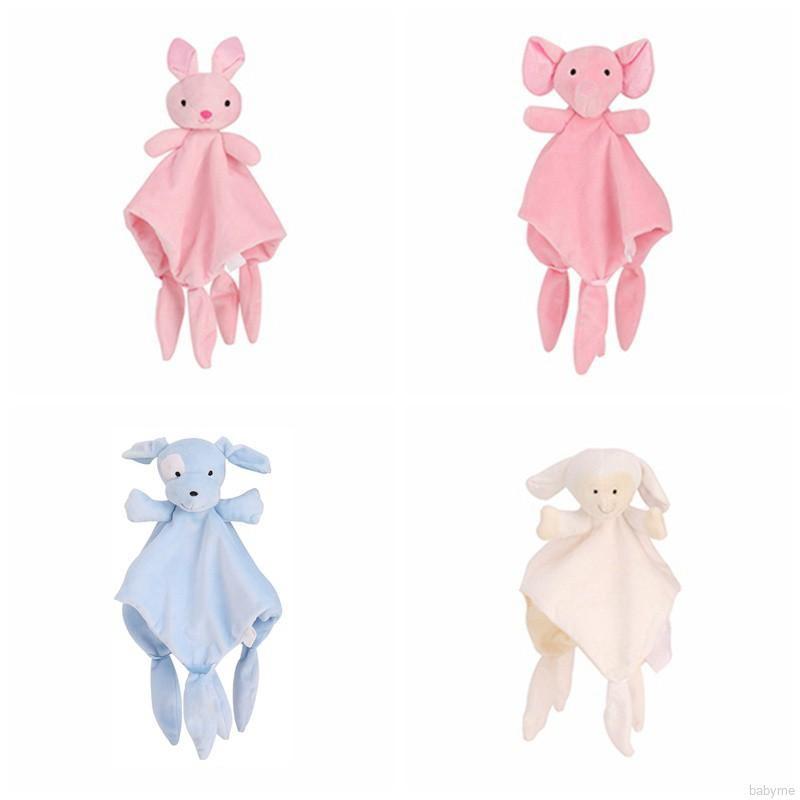 Baby Soft Blanket Calming Sleeping Animal Blanket Towel Rattles Stroller Toy