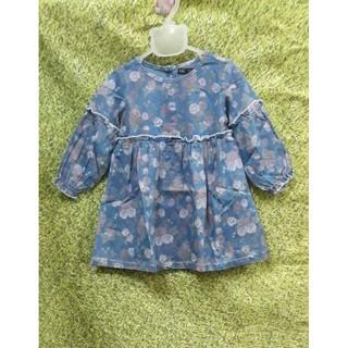 xả lỗ lẻ size: Váy JEANS HOA MỀM DÁNG BABY  DOLL HÃNG NEXXI SIZE 1-13(10-41KG)