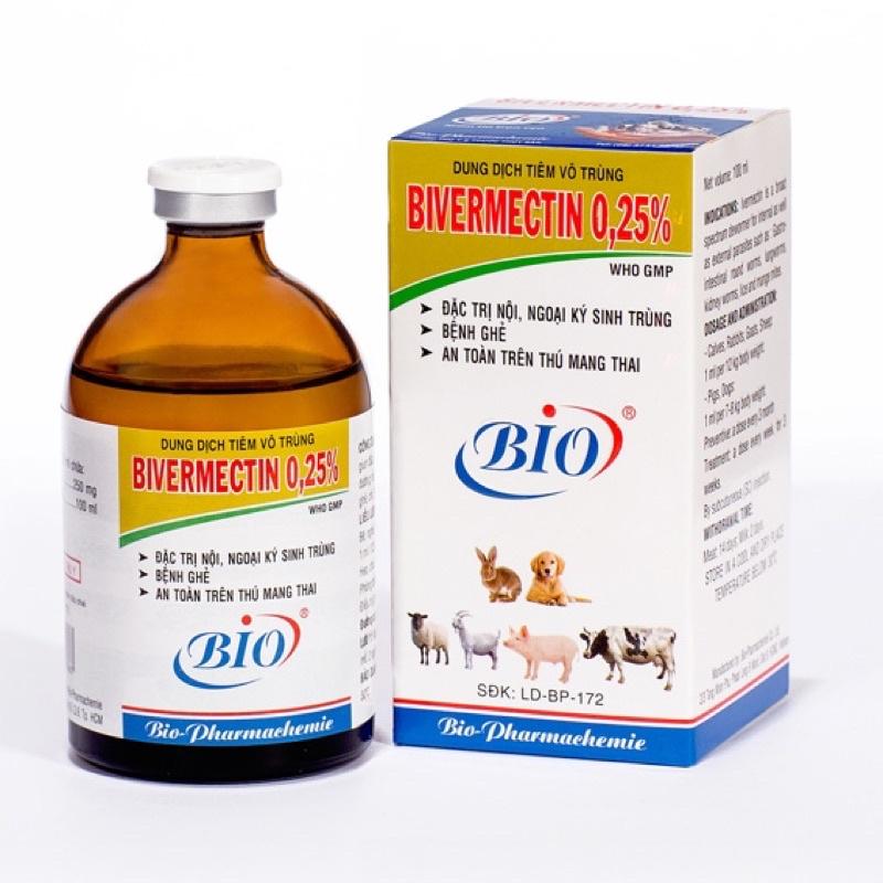 Bivermectin giảm ve, ghẻ, kí sinh trùng 20ml