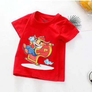 Áo tết cho bé trai, bé gái | (6kg - 16kg) | đồ tết cho bé trai, bé gái 2021| quần áo trẻ em tết Tân Sửu | áo thun tết