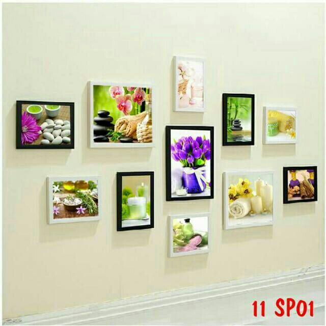 Bộ 11 khung ảnh treo tường tặng kèm đinh 3 chân( 3 khung 20*25, 8 khung 13*18 )
