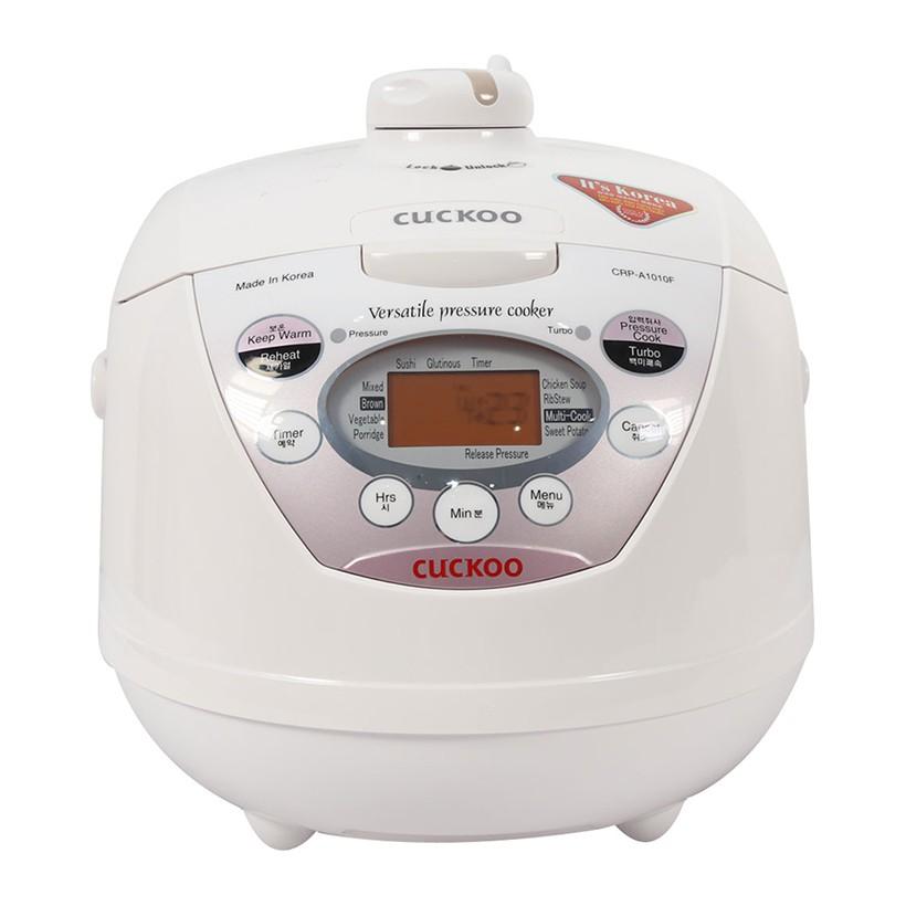Nồi cơm áp suất điện tử Cuckoo CRP-A1010F 1100W 1.8L (Trắng)