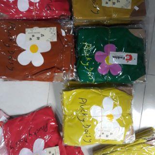 Áo cotton len hình hoa size nhỡ cho bé gái