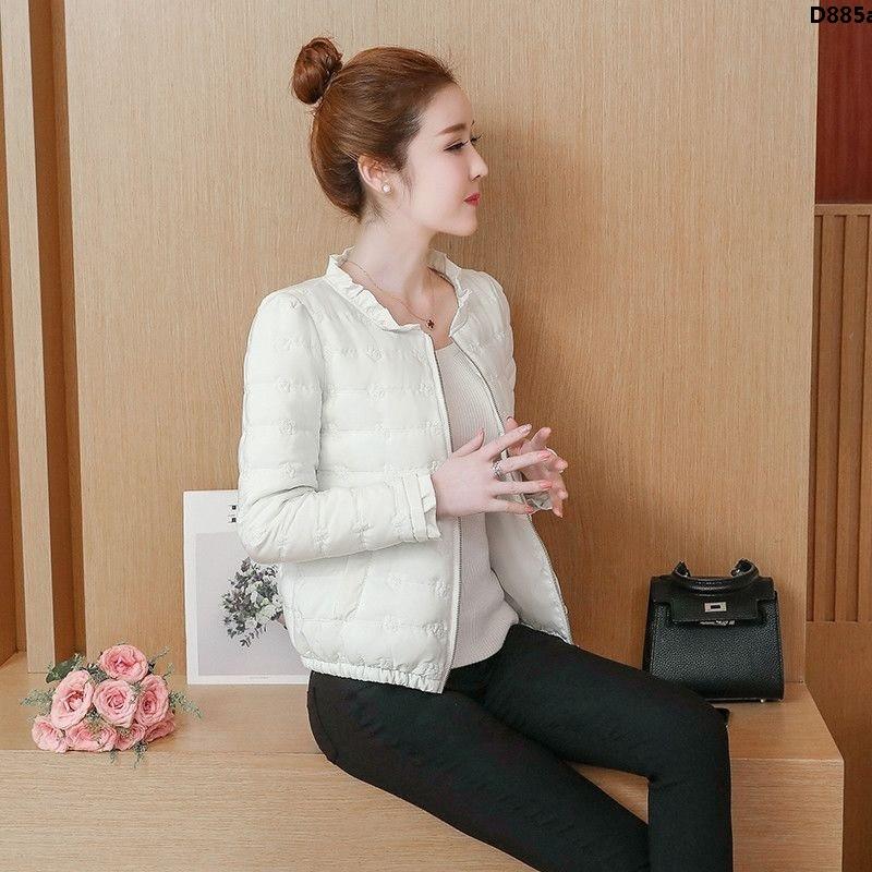 Áo Khoác Phao Cotton Mỏng Dáng Ôm Ngắn Thời Trang Cho Nữ