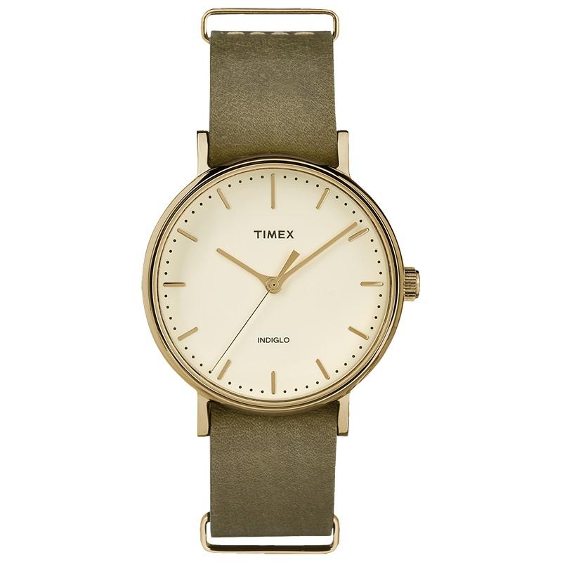 [Mã WTCHMALL giảm 50K đơn 399K] Đồng hồ unisex Timex Weekender Fairfield TW2P98500 màu xanh rêu