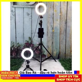 """Trợ giá"""" Đèn Livestream 26cm Full Bộ Gồm Chân Đèn Và Giá Đỡ Điện Thoại, Hỗ Trợ Bán Hàng, Make Up, Nối Mi"""
