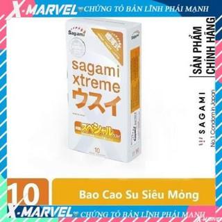 Bao cao su SIÊU MỎNG tăng KHOÁI CẢM kéo dài thời gian. Bcs GAI BI lớn Sagami Xtreme Superthin thumbnail