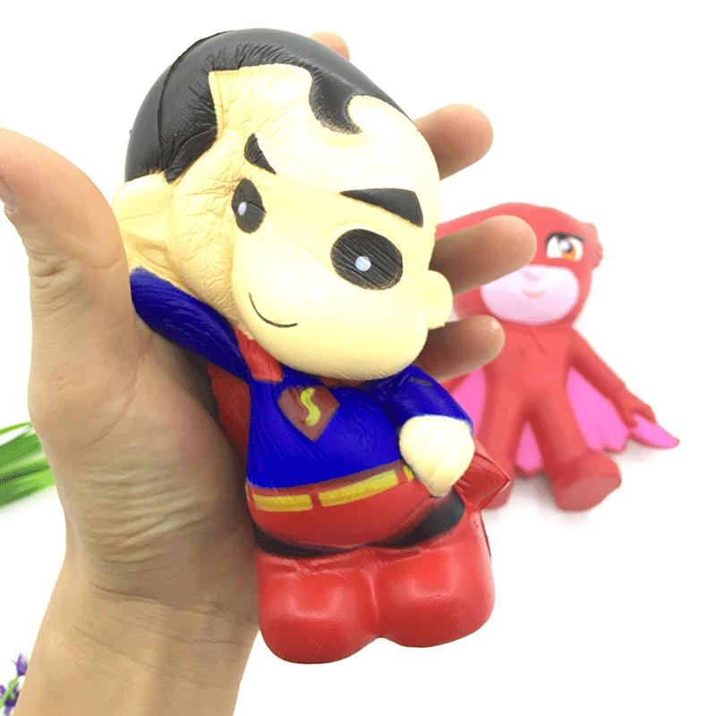 Pu Superman Slow Rebound Toy Squishy Superman Pu Simulation