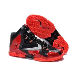[Có hộp] Giày Nike LeBron James 11 Lakers Giày bóng rổ LBJ 11s màu đen đỏ James sneakers EU40-46