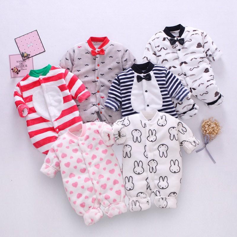 Áo liền quần Body nỉ băng lông cho bé Trai bé Gái Hàng Quảng Châu xuất Nhật SLN 01