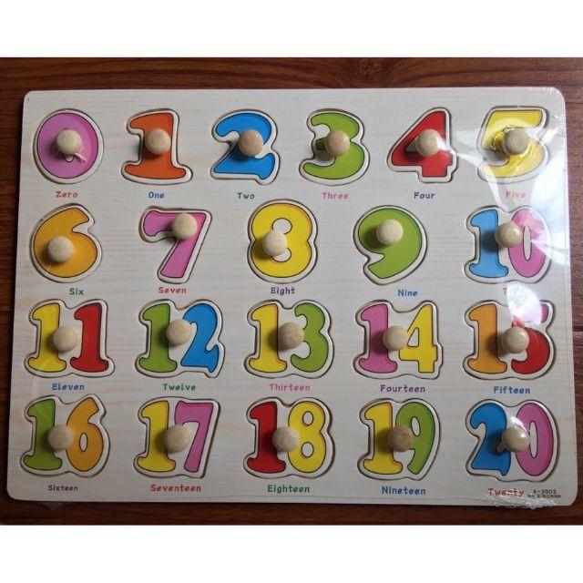 bảng ghép số thông minh có núm tay cầm