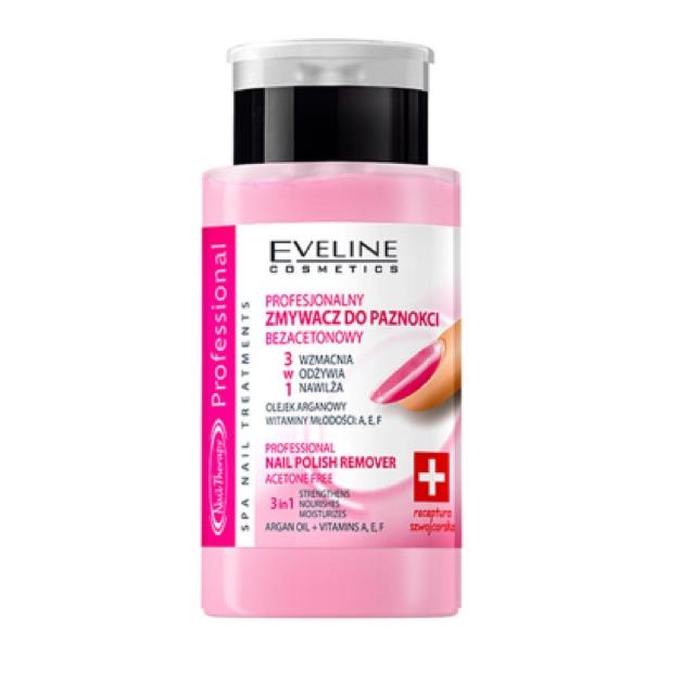 Nước tẩy sơn móng tay và dưỡng móng 3 trong 1 Eveline Nail Therapy 190ml