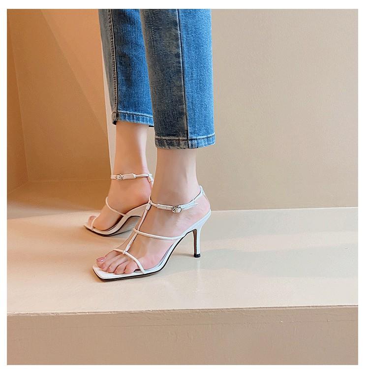 Giày sandal MV dây chữ T gót 7p Rosa mới - CG-0451