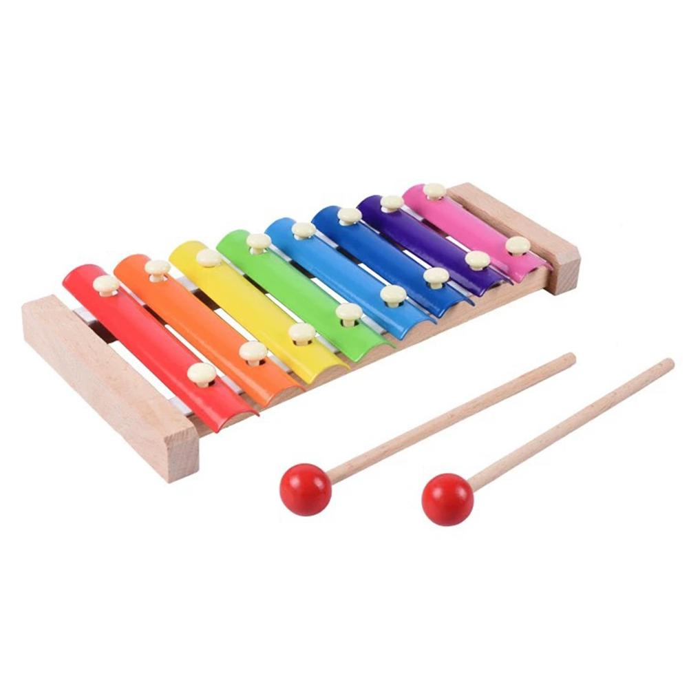 Gift Musical Toy Preschool Hand Knock Enlightenment Education Baby Kids Interactive Wooden Eight-tone Xylophone