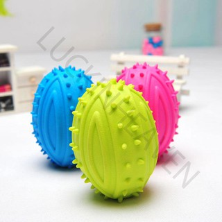 Pet Dog Gnawing Kick TPR Rugby Ball Relax Entertainment Play Toy Color Random