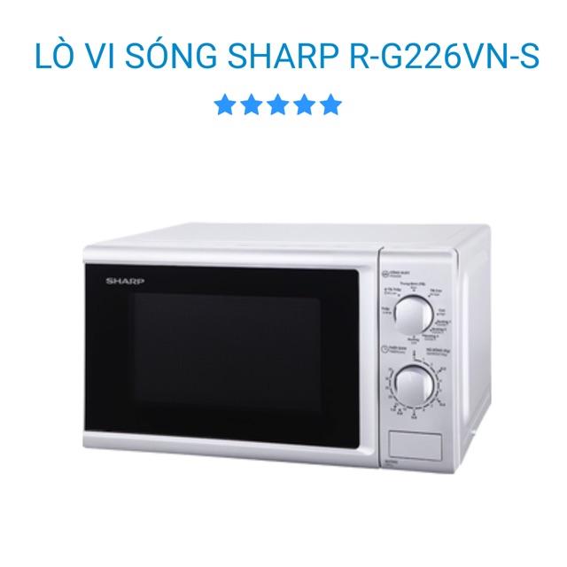 Lò Vi Sóng 20L SHARP R-G226Vn-S Có Nướng