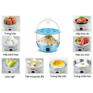 Máy luộc trứng và hấp thức ăn siêu tốc 2 tầng