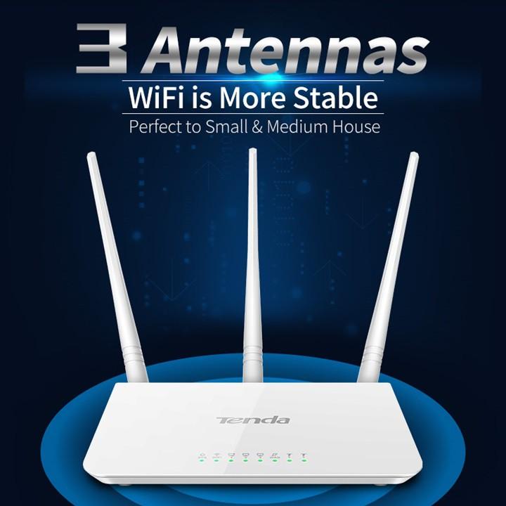 Bộ Phát Wireless Wifi Router Tenda F3 300Mbps 3A Anten 1 Wan, 3 Lan Port
