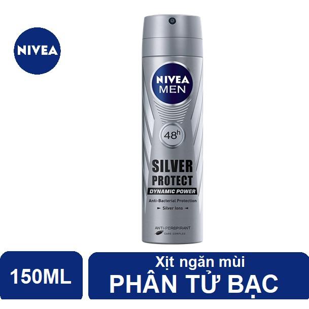 Xịt ngăn mùi Nivea Men phân tử bạc ngăn khuẩn gây mùi vượt trội 150ml - 82959