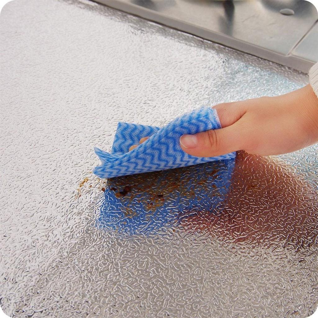 Cuộn giấy bạc dán bếp chịu nhiệt siêu sạch 60cmx2m-Cuộn giấy bạc dán nhà bếp