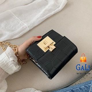 Túi đeo chéo nữ mini dây xích nhỏ xinh thời trang hàn quốc da mềm giá rẻ đi chơi GL62