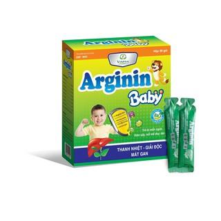 Siro Mát Gan Giải Độc Cho Bé Arginin Baby – Hết Dị Ứng, Mẩn Ngứa, Nổi Mề Đay, Rôm Sảy, Táo Bón, Nhiệt Miệng – Hộp 20 Gói