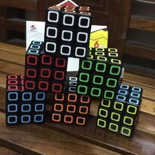 Rubic 3x3x3 cap cấp , hình viền sắc màu 8813